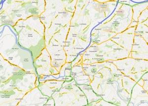 mapa bristol streets