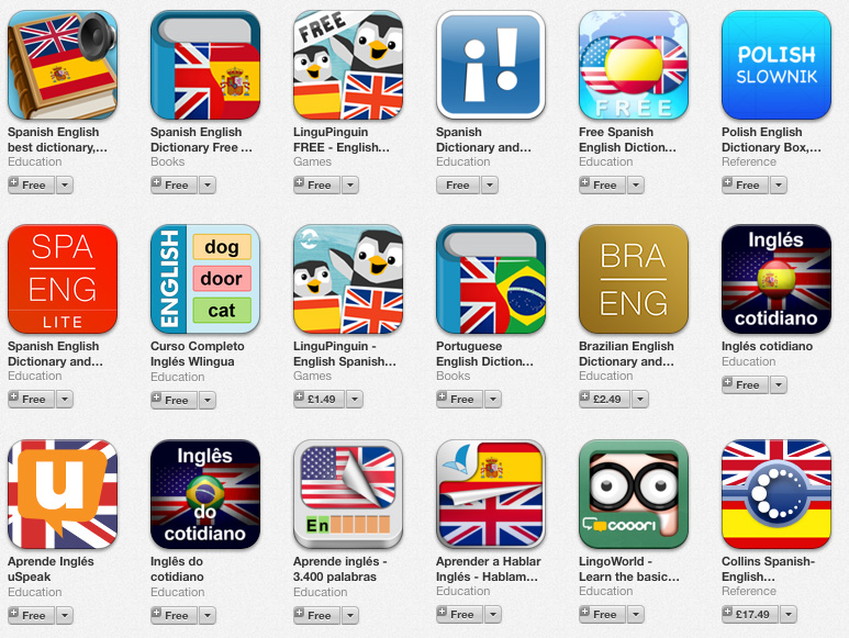 apps para aprender ingles smartphone iphone