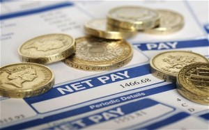 payslip salary pounds coins