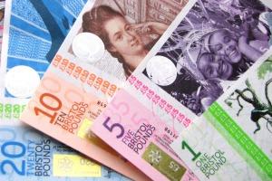 billetes moneda bristol libras
