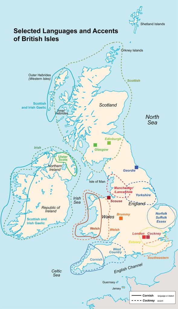 acentos islas británicas