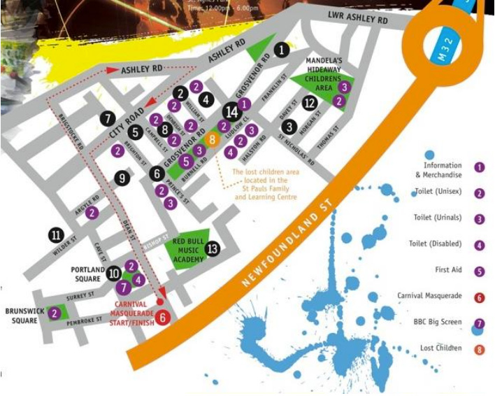 st pauls carnival map