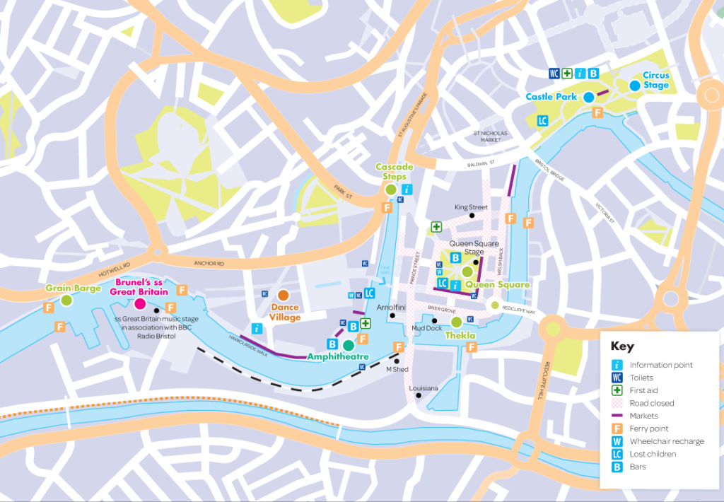 bristol harbour festival map