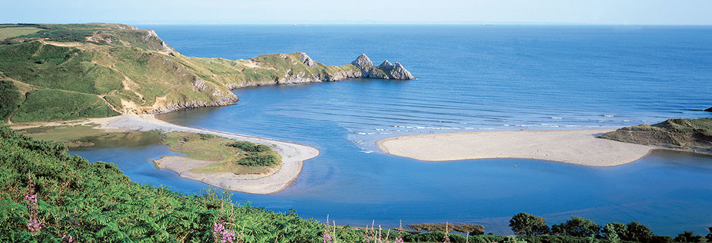 Three Cliffs Bay, Gower Peninsula, Glamorgan