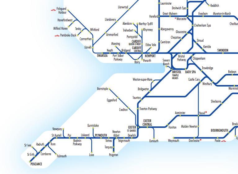 trains southwest