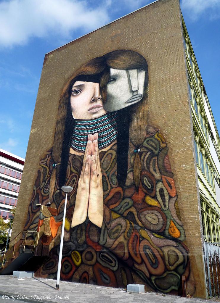 wall painting Horoiwa rotterdam