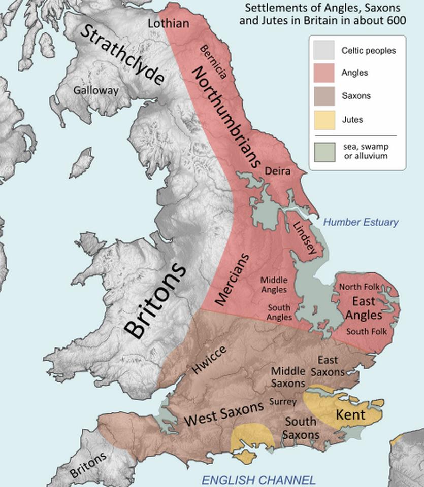 pueblos de gran bretaña año 600