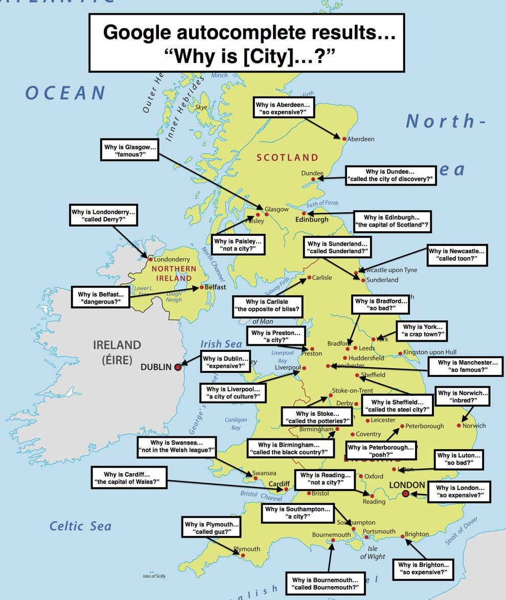 20 Mapas Que Te Haran Ver El Reino Unido De Una Forma Diferente