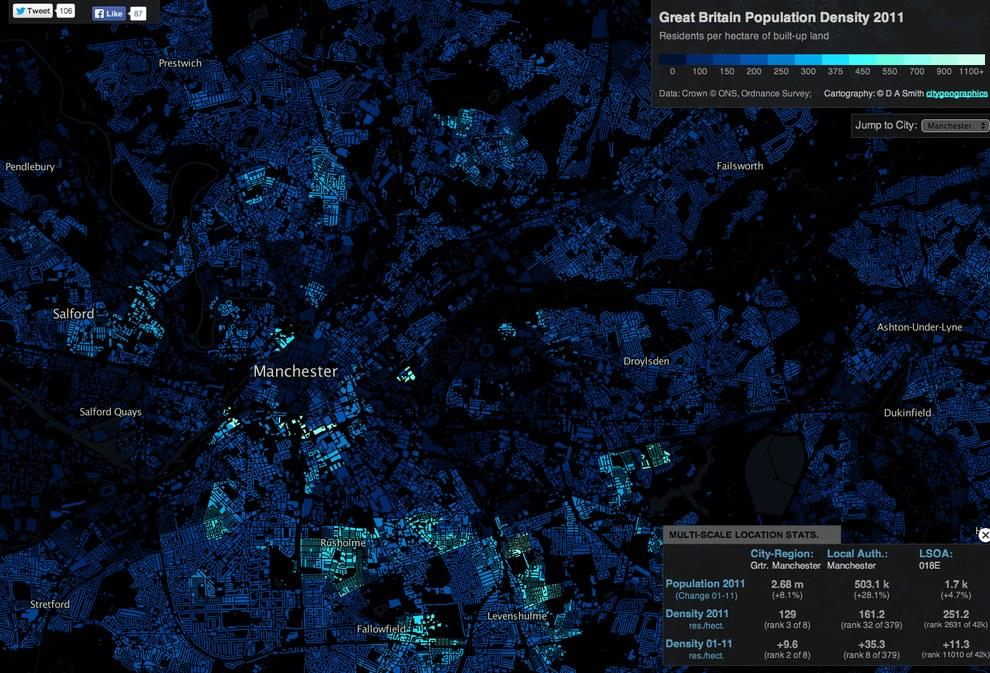 densidad poblaciónmanchester