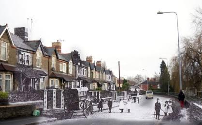 Merthyr Road, Whitchurch en 1908