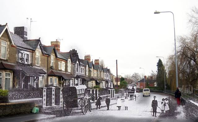Merthyr Road, Whitchurch en 1908