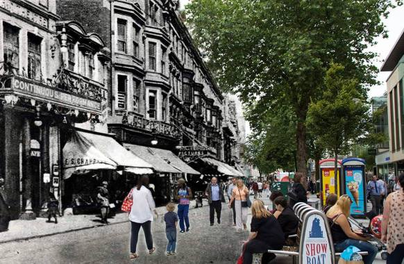 Queen street era la calle de los teatros