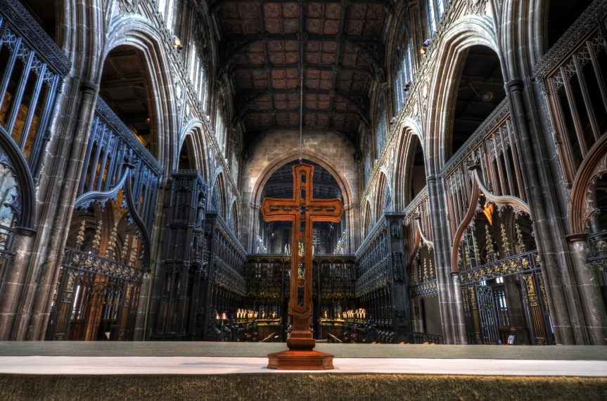 Manchester cathedral by Dom Crossley
