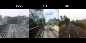 Londres a Brighton en tren 1953 1983 2013