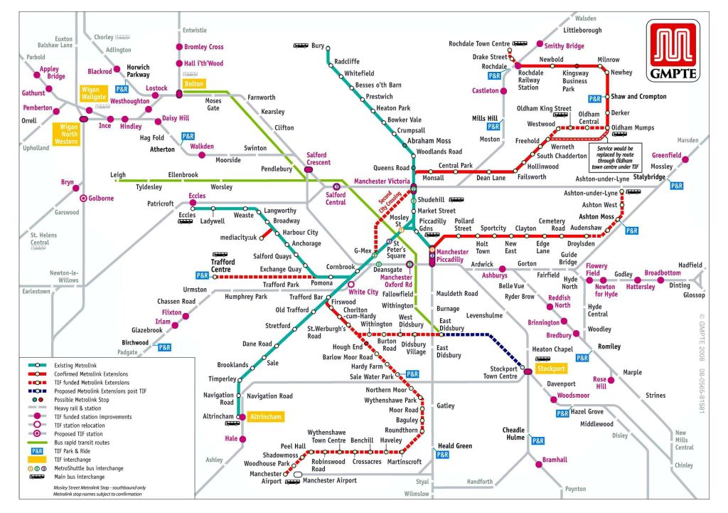 manchester transport map