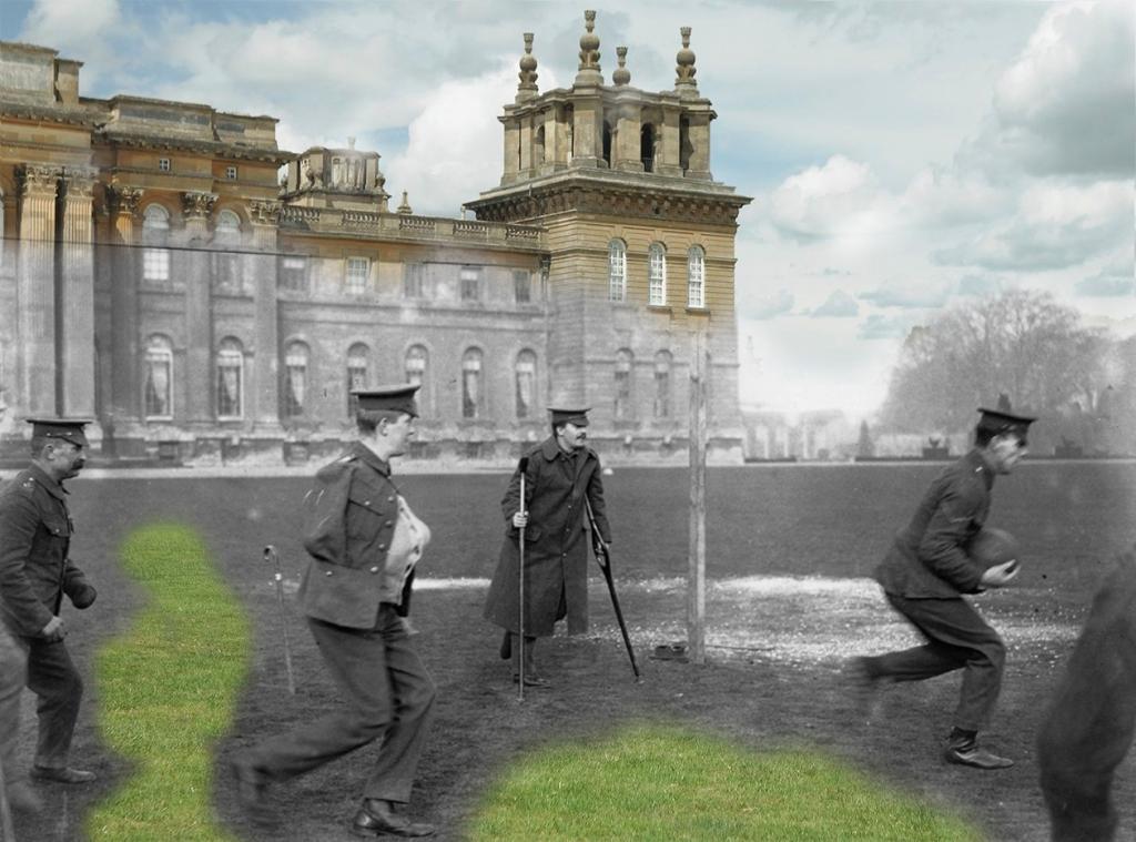 soldados en Blenheim Palace Woodstock