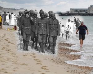 Soldados Indios en Bournemouth durante la primera guerra mundial