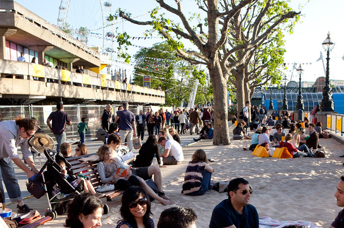 south bank beach londres