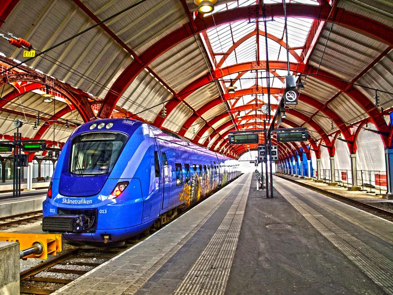 Estación de Malmö (Suecia) en mi interrail 2011