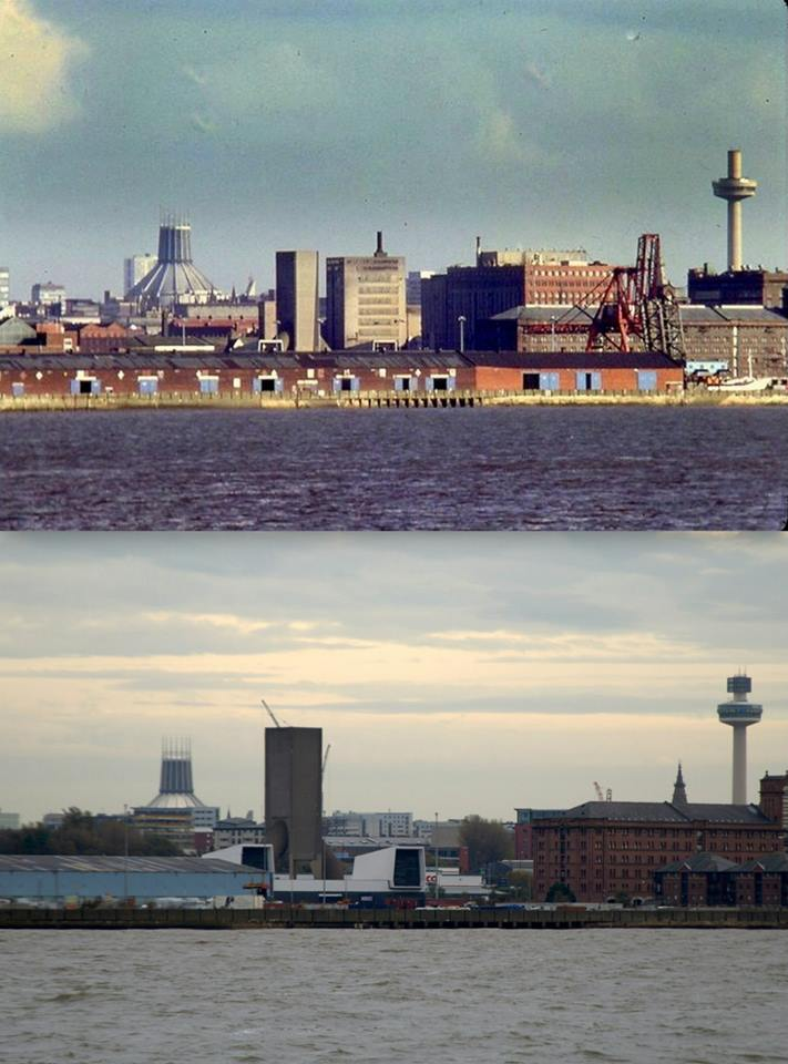 004 Waterfront, 1981 and 2014 Showing the old Bibby's