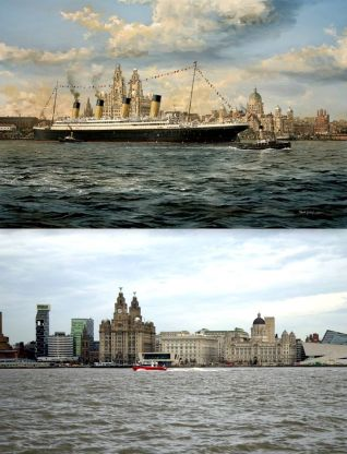 005 RMS Olympic, River Mersey, 1912 and 2014