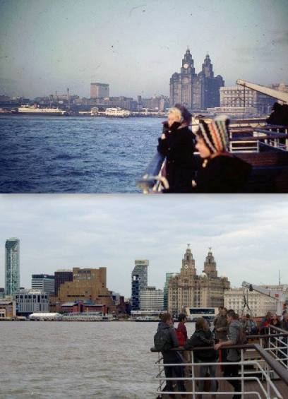 007 Pier Head from the ferry, 1962 and 2014