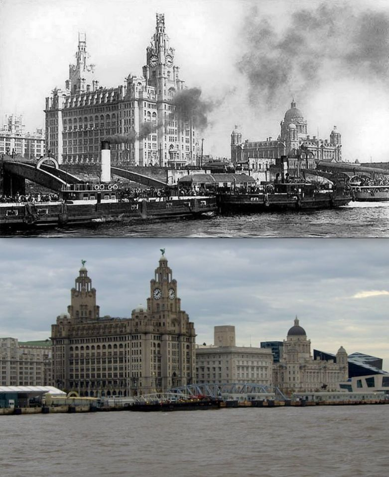 010 Pier Head, 1912 and 2014