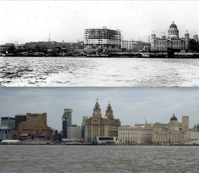 011 Pier Head, 1910 and 2014