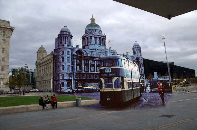 013 Port of Liverpool Building with no 40 tram, 1950s in 2014