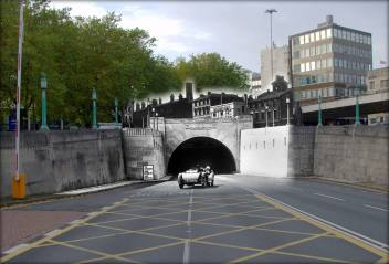 026 Mersey Tunnel lone motorist, 1940s and 2014