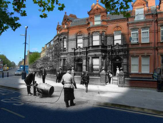 029 Princes Road Roadworks, 1905 in 2014