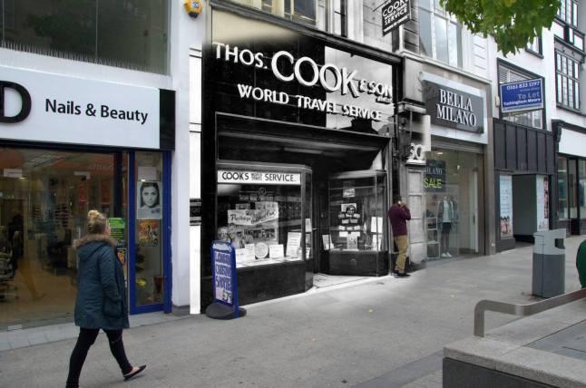 036 Thomas Cook, Church Street, 1949 in 2014