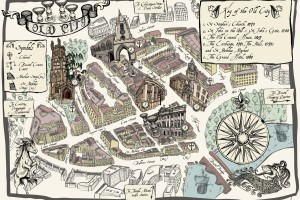 Bristol Old City Map