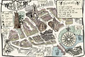 Bristol Old City Map