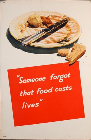 Design issued by the Ministry of Food urging people to be frugal with food