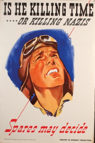 A poster designed by Owen Miller for the Ministry of Aircraft Production.