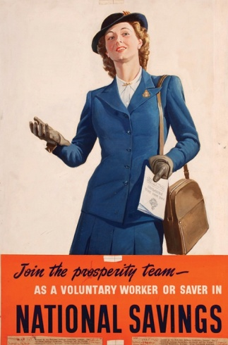 This original artwork poster was issued by the Department for National Savings, and was used in a 1946 campaign.