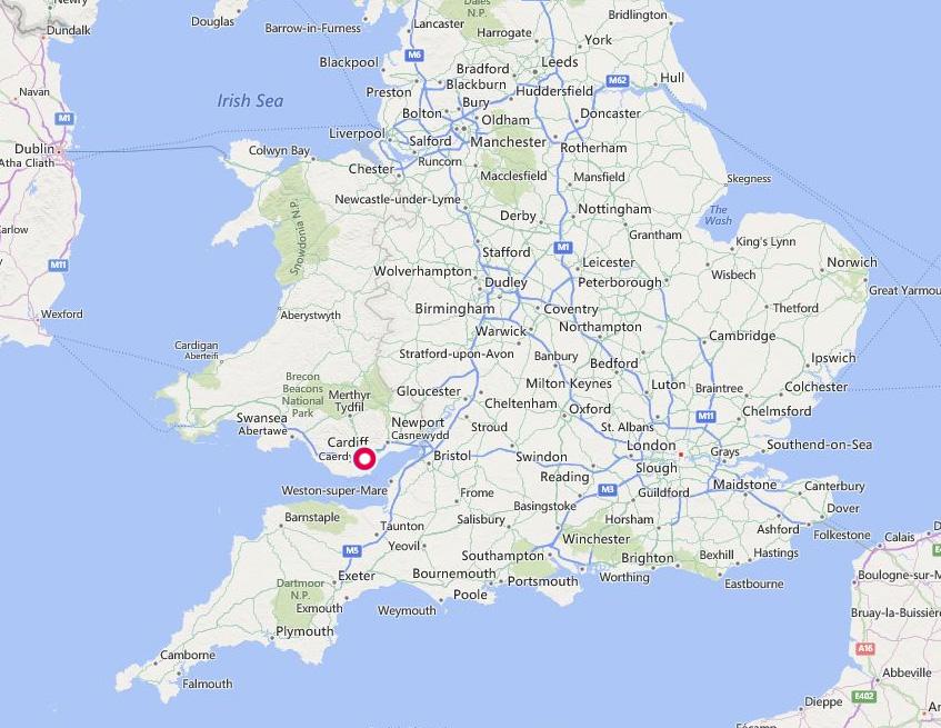 cardiff map uk