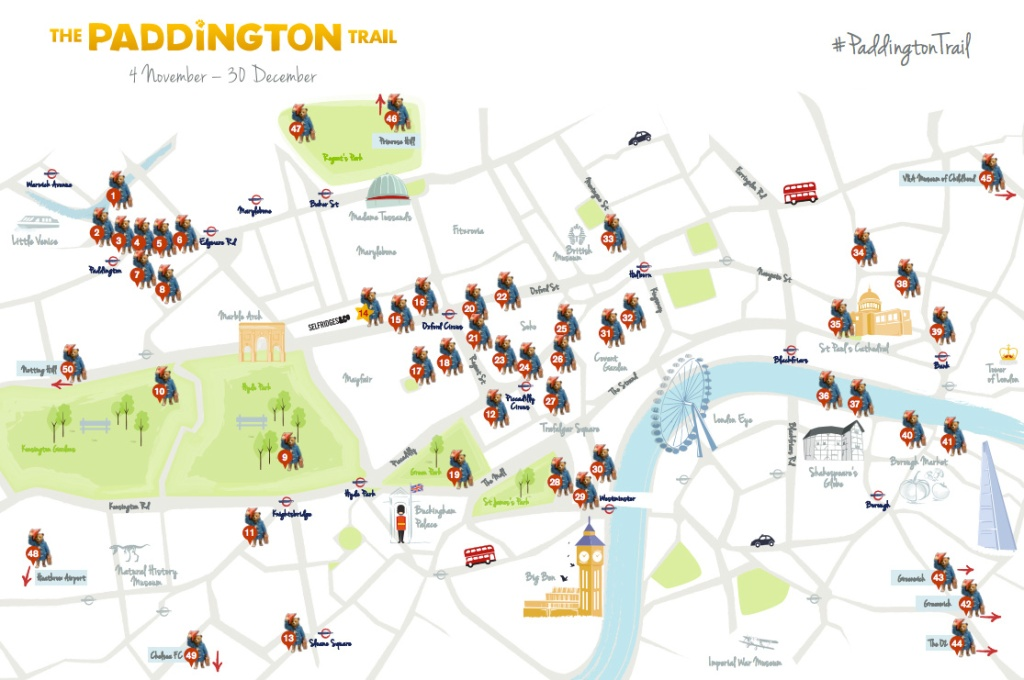 paddington bears london map