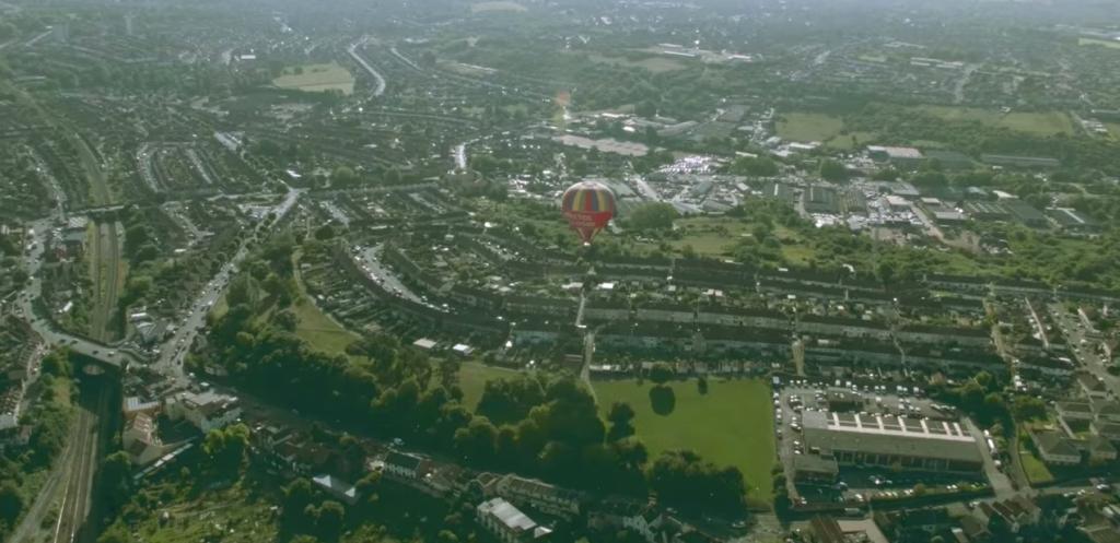 bristol desde el aire en globo