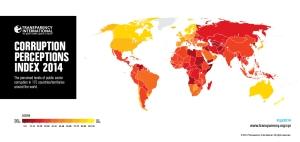 países más corruptos del mundo 2014
