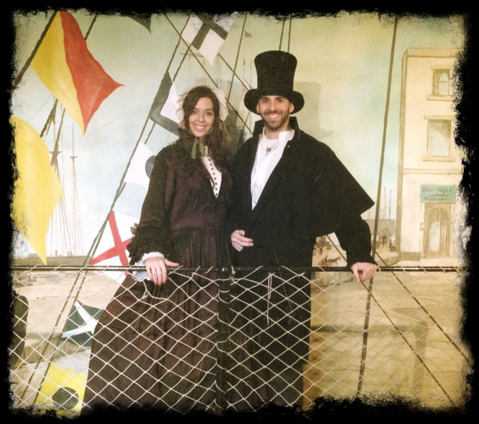 Bárbara y Albert visitanto el SS Great Britain de Bristol