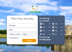 traveline transporte público uk