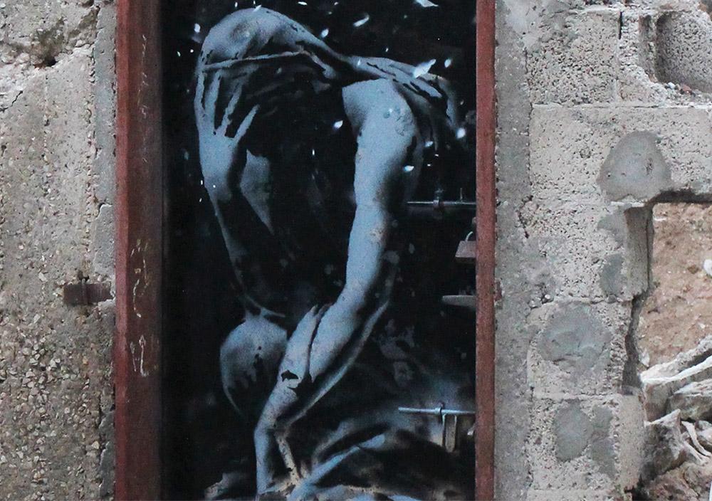 graffitti Banksy en Gaza 2015
