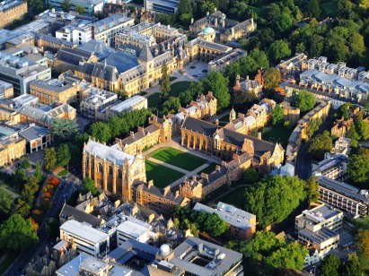 Dave Price -- Aerial View of Oxford- Keble College and surroundings.