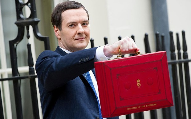 George Osborne en la presentación anual de los presupuestos británicos
