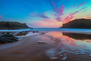 Adrian Kingsley-Hughes - 'Reflections of a Dying Day' - Porth Dafarch, Anglesey