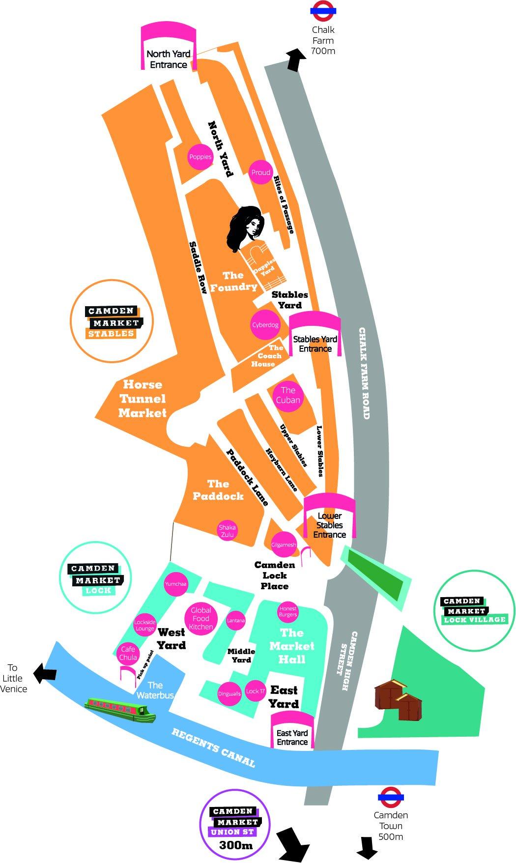 Camden Market map