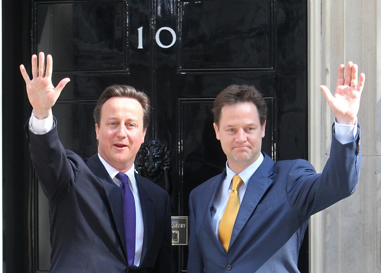 David Cameron y Nick Clegg en 2010