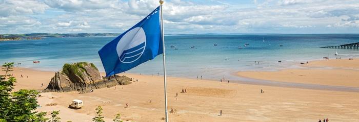 Playa gales bandera azul